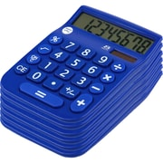 Office + Style 8 Digit Calculator- Blue 6 Pack