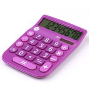 Office + Style 8 Digit Calculator- Purple