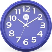 "Office + Style 13"" Silent Quartz Color Wall Clock with Anti-Scratch Cover OS-1CLOCK- Blue"