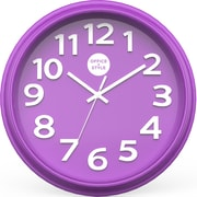 "Office + Style 13"" Silent Quartz Color Wall Clock with Anti-Scratch Cover OS-1CLOCK- Purple"