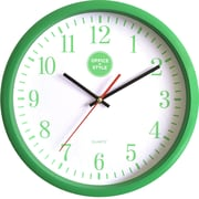 "Office + Style 13"" Silent Quartz Color Wall Clock with Anti-Scratch Cover OS-2CLOCK- Green"