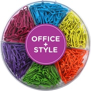Office + Style Colored 28 mm Paper Clips, 480 pcs
