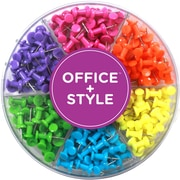 Office + Style Colored Push Pins, 240 pcs