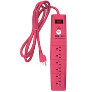 Office + Style 6 ft surge protector - Pink