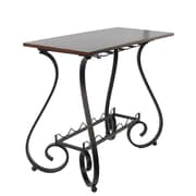 Homestyle Collection Curved Leg Console Table 5 Bottle Floor Wine Bottle Rack