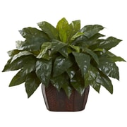 Nearly Natural Giant Bird's Nest Fern Plant in Planter