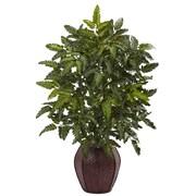 Nearly Natural Bracken Fern Plant in Planter
