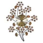 Three Star Elegant Bejeweled Branch Wall Clock