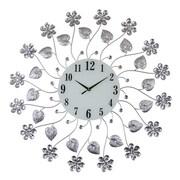 Three Star Oversized Elegant Bejeweled Flower Vine Wall Clock