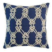 Rightside Design I Sea Life Nautical Rope Patterned Throw Pillow; Navy