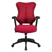Offex High-Back Mesh Executive Chair; Burgundy