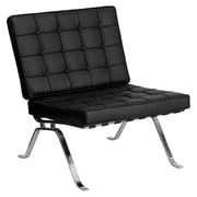 Offex Hercules Flash Series Leather Reception Chair; Black