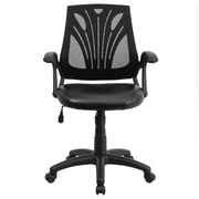 Offex Mid-Back Leather and Mesh Executive Chair
