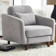 Serta at Home Sierra Arm Chair; Smoke Gray