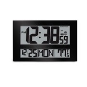 Marathon Watch Company Jumbo Atomic Wall Clock; Black
