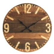Creative Co-Op 29'' Wood Laser Cut Wall Clock