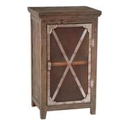 Decor Therapy Modern Farmhouse Chicken Wire Cabinet