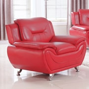 PDAEInc Deliah Modern Living Room Club Chair; Red