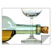 ArtWall ArtApeelz 'Bottle Plus Glass' by Dan Holm Photographic Print Removable Wall Decal