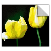 ArtWall ArtApeelz 'Yellow Tulips' by Herb Dickinson Graphic Art Removable Wall Decal
