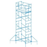 1.58' H x 102'' W x 72'' D Steel Scaffold Tower w/ 375 lb. Load Capacity Type 2A Duty Rating