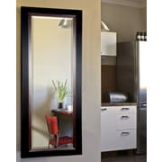 Rayne Mirrors Jovie Jane Sleek Black w/ Brown Grain Lining Full Length Beveled Body Mirror
