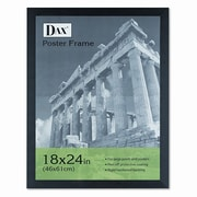 DAX MANUFACTURING INC. Black Plastic Poster Frame w/ Plexiglas Window, Wide Profile, 18 x 24