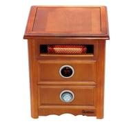 Nightstand Model 1,500 Watt Portable Electric Infrared Cabinet Heater w/ Remote Control