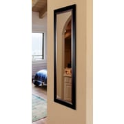 Rayne Mirrors Ava Sleek Black w/ Brown Grain Lining Full Length Body Mirror