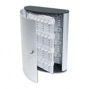 DURABLE OFFICE PRODUCTS CORP. Locking Key Cabinet, 72-Key, Brushed Aluminum, 11 3/4 X 4 5/8 X 15 3/4