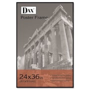 Coloredge Poster Frame w/ clear plastic window, 24 x 36, Clear Face/Black Border