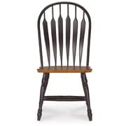 International Concepts Madison Park Windsor Side Chair; Black and Cherry