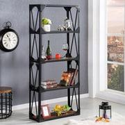Wholesale Interiors Baxton Studio Hudson 71'' H Four Shelf  Shelving Unit
