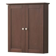 Hazelwood Home Merlo 21'' Wall Cabinet; Cherry
