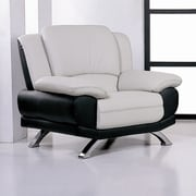 Hokku Designs Caelyn Leather Club Chair; Black