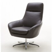 Hokku Designs Navis Leather Lounge Chair; Brown