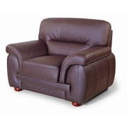 Hokku Designs Leather Chair; Brown