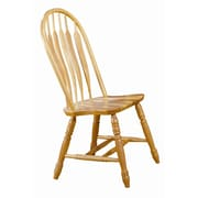 Sunset Trading Sunset Selections Comfort Back Side Chair (Set of 2); Rich Honey Light Oak