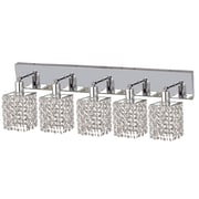 Elegant Lighting Mini 5 Light Oblong Canopy Square Wall Sconce; Crystal (Clear) / Elegant Cut