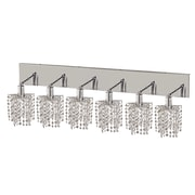 Elegant Lighting Mini 6 Light Oblong Canopy Pentagon / Star Wall Sconce; Crystal (Clear) / Royal Cut