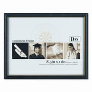 DAX MANUFACTURING INC. Two-Tone Document/Diploma Wood Frame, 8.5'' x 11''