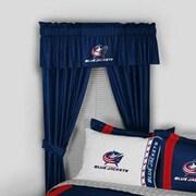Sports Coverage NHL Columbus Jackets Rod Pocket Window Treatment Set (Set of 2); 84'' W x 82'' L