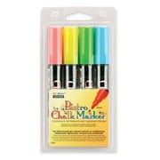 Uchida of America Bistro Chalk Marker, Erasable, Fluorescent RD, BE, GN, YW