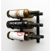 VintageView Wall Series 6 Bottle Wall Mounted Wine Rack; Satin Black