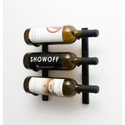 VintageView Wall Series 3 Bottle Wall Mounted Wine Rack; Satin Black