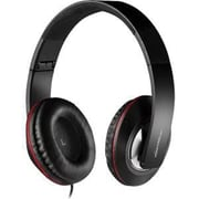 MYEPADS MH-023 Over-the-Head Stereo Wired Headset with Microphone, Black