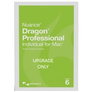 Nuance® Dragon® Pro Individual V.6 Upgrade Software for Mac Version 5.0, 1 User, Mac OS X, DVD (S681A-K1A-6.0)