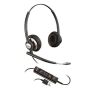 Plantronics® EncorePro 700 USB Series HW715 Over-the-Head Corded Headset with Noise Cancelling Microphone, Black