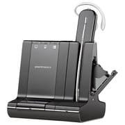 Plantronics® Savi 700 Series W745/APV-63 Cordless Headset System with Microphone and Hook Switch Cable, Black/Gray