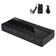 Sabrent 7 Port USB 3.0 Hub with 4A Power Adapter (HB-RU37)